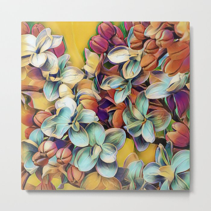 Painted Lilacs Metal Print