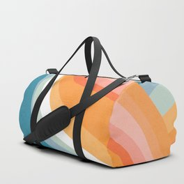 Rainbow Waves Pattern Duffle Bag