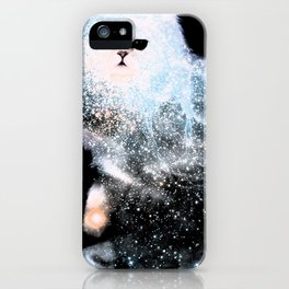 Celestial Cats - The Persian and the Ashes of the First Stars iPhone Case
