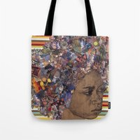 afro Tote Bags featuring Afro by Chris McArdle