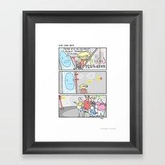 Pow Pow Power Rangers Framed Art Print