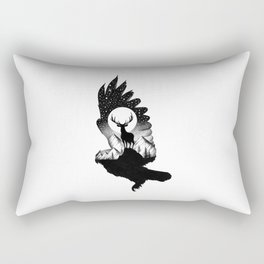 THE OWL AND THE DEER II Rectangular Pillow