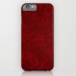 Red Crushed Velvet iPhone Case