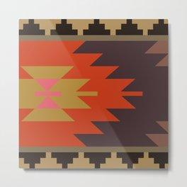 American Native Pattern No. 244 Metal Print