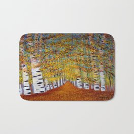 Birch trees Bath Mat
