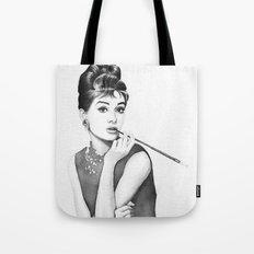 Audrey Hepburn Breakfast at Tiffanys Tote Bag