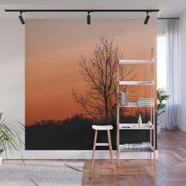 Setting Silhouette Wall Mural