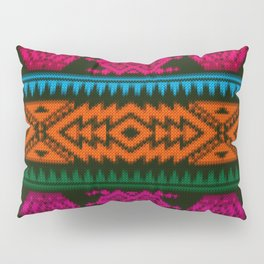 Ethnic Knitted pattern Pillow Sham
