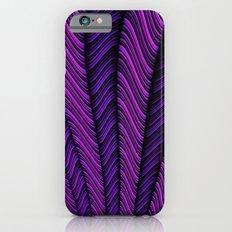 Fractal Purple Chevrons Burst Slim Case iPhone 6s