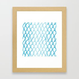 Net Water Framed Art Print