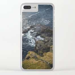 The Ocean on the Rocks Clear iPhone Case