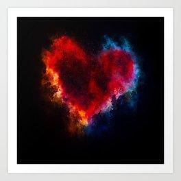 Cosmic Heart Art Print