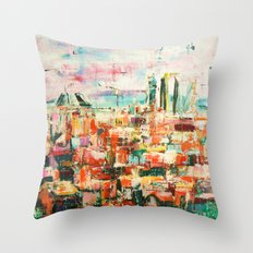 Madrid Towers Throw Pillow