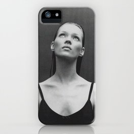 Old reworked Kate Moss photo. iPhone Case