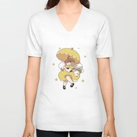 bee and puppycat V-neck T-shirts featuring Bee and Puppycat by Kaciel