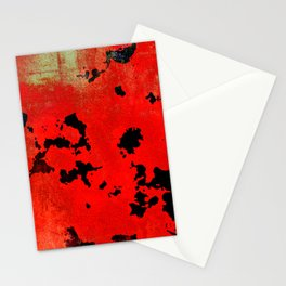 Red Modern Contemporary Abstract Textured Design Stationery Cards