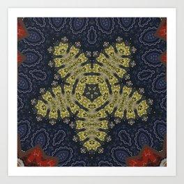 Better than Yours Colormix Mandala 15 Art Print