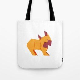 Origami French Bulldog Tote Bag