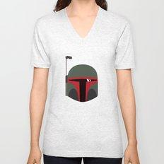 Star Wars Minimalism - Boba Fett Unisex V-Neck