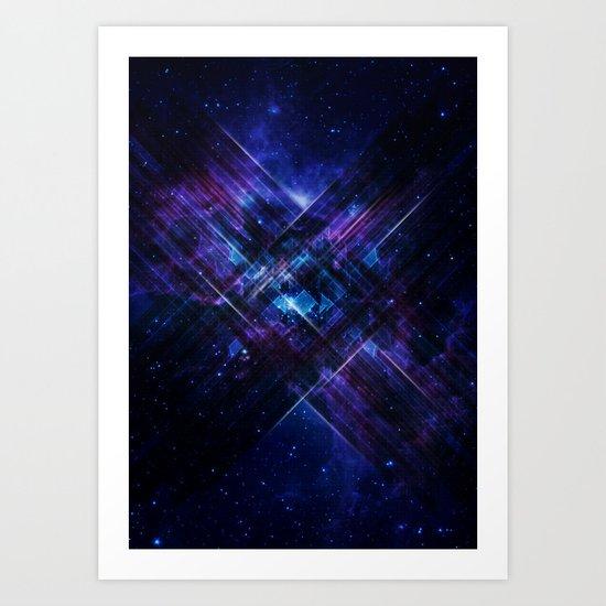 Cosmic Interference Art Print