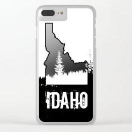 Idaho: Black & White Clear iPhone Case