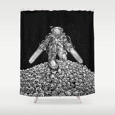 Texas Chainsaw Astronaut: New Moon Shower Curtain