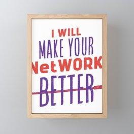 Ethernet cable saying Framed Mini Art Print