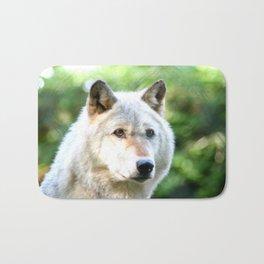 Gray Wolf Bath Mat