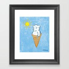 Icebear Framed Art Print