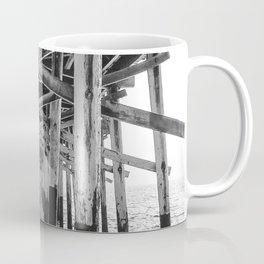 Balboa Pier Print {3 of 3} | Newport Beach Ocean Photography B&W Summer Sun Wave Art Coffee Mug