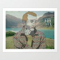 bon iver Art Prints featuring Bon Iver. by Lucas Eme A