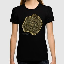 Peachleaf Willow – Gold Tree Rings T-shirt