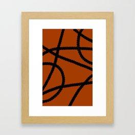 White Ropes Framed Art Print