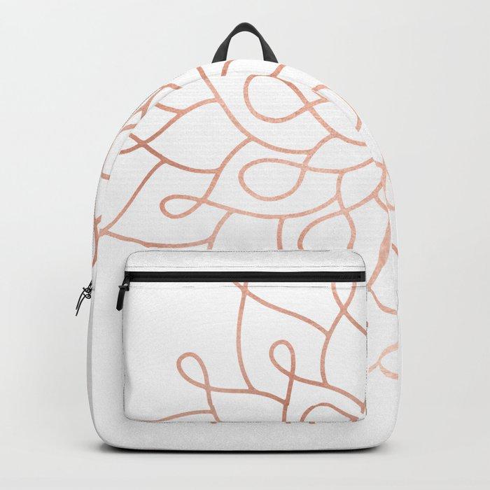 Mandala Rose Gold Pink Star Backpack