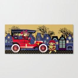 Vintag car in street Canvas Print