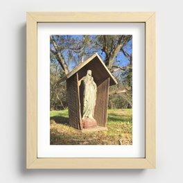 Our Lady prayer grotto Recessed Framed Print