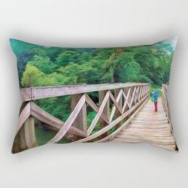 Bucket Explorer on the Bridge Rectangular Pillow