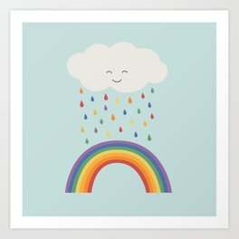 let's make rainbows Art Print