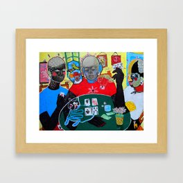 Me, Mother Discord and Madame Hypocrite playing poker.  Framed Art Print