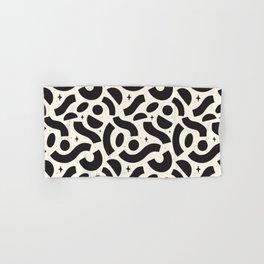 Macaroni Sky Black and White Hand & Bath Towel