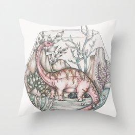 Sauropod Terrarium Throw Pillow