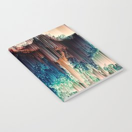 Cave of Wonders - Abstract Glitch Pixel Art Notebook