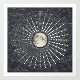 Phases // Moon Calendar 2017 Art Print