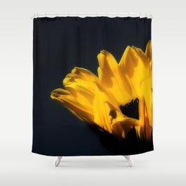 Sunflower (Black) Shower Curtain