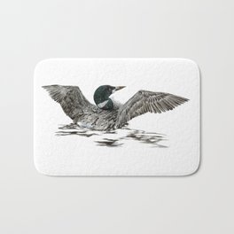 Morning Stretch - Common Loon Bath Mat