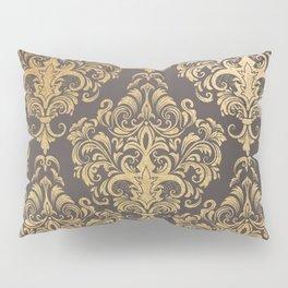 Gold swirls damask #7 Pillow Sham