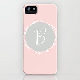 Garland Initial B - Grey iPhone Case