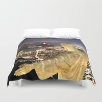 christ Duvet Covers featuring Christ the Redeemer ✝ Statue  by Barrier _S_D