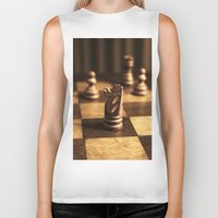 chess Biker Tanks featuring Chess by Janelle