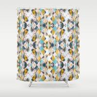 diamonds Shower Curtains featuring Diamonds by James McKenzie